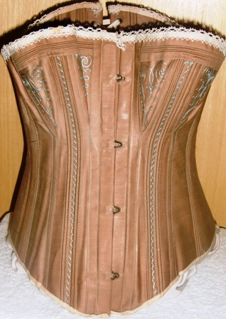 xxM91M Cooley Patent Globe Manufacturing Company Brown Corset 1880-82