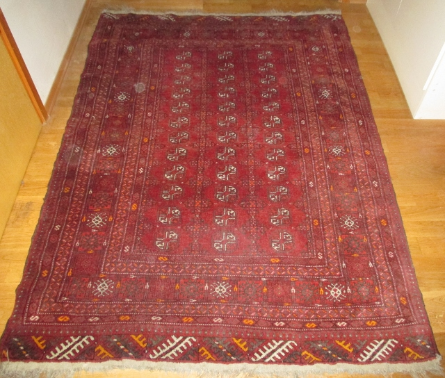 M928M  Nr 13 Hand knotted Bokhara Persian Carpet