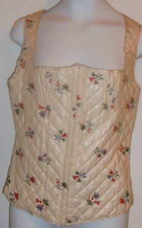 xxM238M Brooklyn Museum 1930s Corset Cover Floral Embroidered