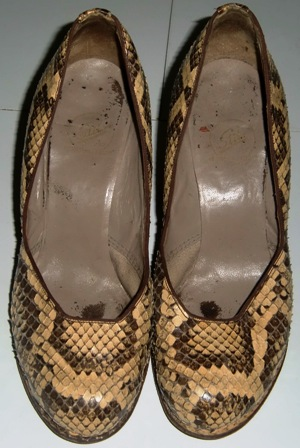 xxM30M 1940s crocodile shoes