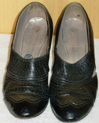 xxM154M 1920s Black everyday shoes SOLD