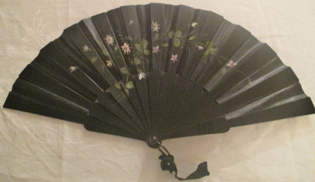 M970M Late Victorian painted fan